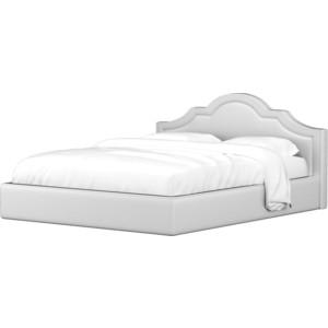 Кровать АртМебель Афина эко-кожа белый