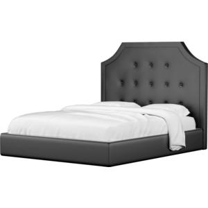Кровать Мебелико Кантри эко-кожа черный
