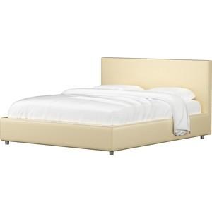 Кровать АртМебель Кариба эко-кожа бежевый