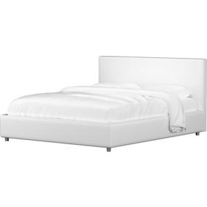 Кровать АртМебель Кариба эко-кожа белый