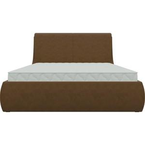 Кровать АртМебель Принцесса микровельвет коричневый кровать артмебель принцесса микровельвет фиолетовый