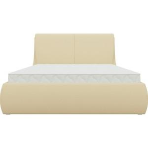 Кровать АртМебель Принцесса эко-кожа бежевый