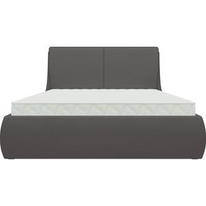Кровать Мебелико Принцесса эко-кожа коричневый