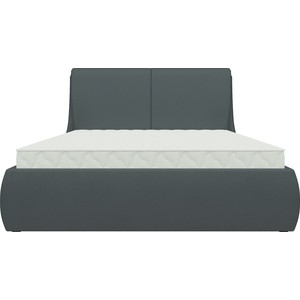 Кровать АртМебель Принцесса эко-кожа черный кровать артмебель кантри эко кожа черный
