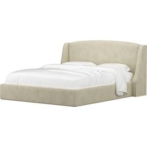 Кровать Мебелико Лотос микровельвет бежевый.