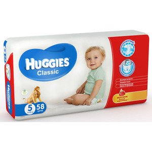 Huggies Подгузники CLASSIC Размер 5 11-25кг 58шт подгузники huggies classic 5 11 25 кг 11 шт