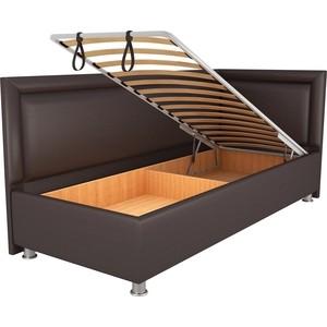 Кровать OrthoSleep Барби шоколад механизм и ящик 90х200 правый угол