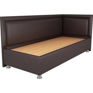 Кровать OrthoSleep Барби шоколад жесткое основание 80х200 правый угол