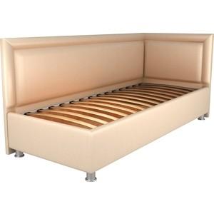 Кровать OrthoSleep Барби бисквит ортопед.основание 120х200 правый угол