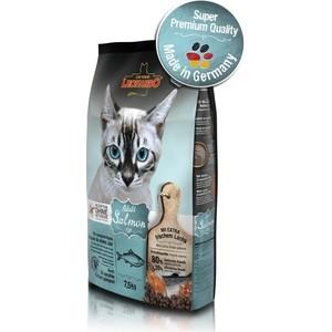 Сухой корм Leonardo Adult Salmon Grain Free беззерновой с лососем для кошек чувствительным пищеварением 7,5кг (758725)