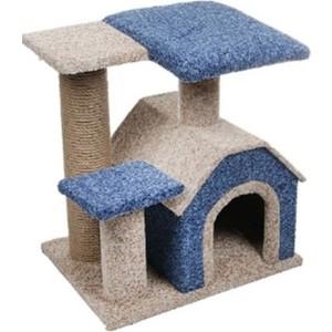 Когтеточка PerseiLine Комплекс КАМЕЯ-3 изба + 2 площадки 50*40*50см для кошек (КК-3)