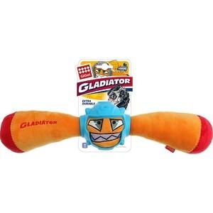 Игрушка GiGwi Dog Toys Squeak Gladiator гладиатор в резиновом шлеме- палка с пищалкой для собак (75441)