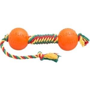Игрушка Doglike гантель средняя канат желтый-зеленый-красный для собак (D-2369ygr)
