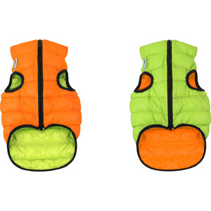 Курточка CoLLaR AiryVest двухсторонняя оранжево-салатовая размер S 35 для собак (1602) фото