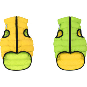Курточка CoLLaR AiryVest двухсторонняя салатово-желтая размер L 55 для собак (1576)