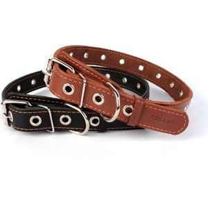 Ошейник CoLLaR кожаный безразмерный 76см*35мм черный для собак (02951)