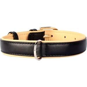 Ошейник CoLLaR Brilliance кожаный двойной ширина 35мм длина 46-60см черный для собак (38801)