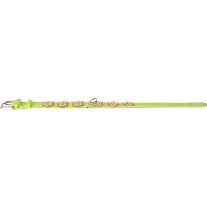 Ошейник CoLLaR Glamour с украшением аппликация ширина 35мм длина 46-60см лайм для собак (35045) collar glamour ошейник collar glamour без украшений ширина 20 мм длина 30 39 см розовый