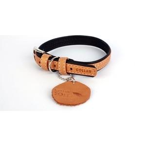 Ошейник CoLLaR SOFT кожаный двойной ширина 15мм длина 27-36см коричневый верх, черный низ для собак (7189) фото