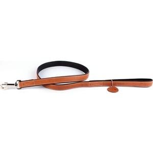 Поводок CoLLaR SOFT кожаный двойной 122см*18мм коричневый верх черный низ для собак (7257)