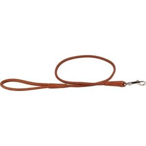 Поводок CoLLaR SOFT кожаный двойной круглый 122см*13мм коричневый для собак (04866)