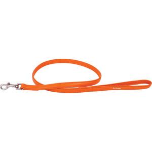Поводок CoLLaR Glamour кожаный двойной 122см*12мм оранжевый для собак (33724) фото