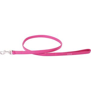 Поводок CoLLaR Glamour кожаный двойной 122см*12мм розовый для собак (33727)