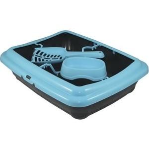 Туалет MP-Bergamo Birba c рамкой, миской и совочком для кошек 46*36*12см (87522)