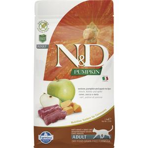 Сухой корм Farmina N&D Adult Cat GF Pumpkin Venison & Apple беззерновой с олениной яблоком и тыквой для кошек 1,5кг