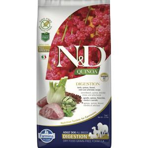 Сухой корм Farmina N&D Cat GF Quinoa Digestion Lamb Fennel &Mint беззерновой с ягненком киноа фенхелем и мятой здоровое пищеварение для кошек 7кг