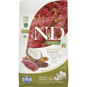 Сухой корм Farmina N&D Dog GF Quinoa Skin & Coat Duck Coconut Turmeric беззерновой с уткой киноа кокосом и куркумой для собак 800г