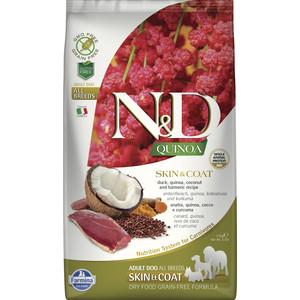 Сухой корм Farmina N&D Dog GF Quinoa Skin & Coat Duck Coconut Turmeric беззерновой с уткой киноа кокосом и куркумой для собак 2,5кг