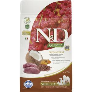 Сухой корм Farmina N&D Dog GF Quinoa Skin & Coat Venison Coconut Turmeric беззерновой с олениной киноа кокосом и куркумой для собак 800г