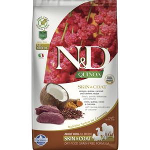 Сухой корм Farmina N&D Dog GF Quinoa Skin & Coat Venison Coconut Turmeric беззерновой с олениной киноа кокосом и куркумой для собак 2,5кг