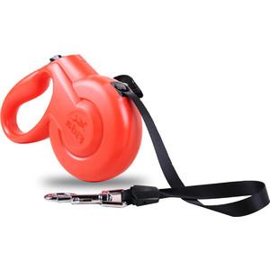 Рулетка Fida Ranger Styleash L лента 5м красная для собак до 50кг