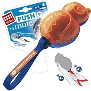 Игрушка GiGwi Dog Toys Push to Mute сова с отключаемой пищалкой для собак (75329) все цены