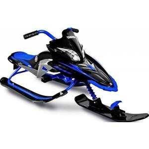 Снегокат Yamaha Apex SNOW BIKE Titanium black/blue YM13001 снегокат snow moto apex snow bike titanium до 40 кг синий пластик металл ym13001