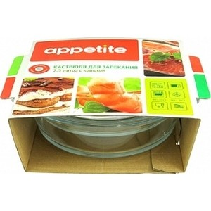 Кастрюля стеклянная 2.5 л с крышкой Mijotex Appetite (CR4) кастрюля appetite greta с крышкой 4 3 л page 8