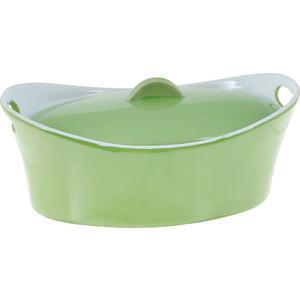Кастрюля керамическая 1.2 л Appetite Овал зеленый (YR100050A-10) кастрюля 3 6 л appetite pretty sh05363 20см