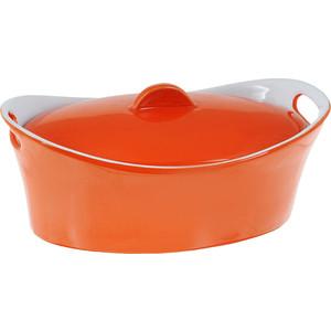 Кастрюля керамическая 1.2 л Appetite Овал оранжевый (YR100050B-10) кастрюля 3 6 л appetite pretty sh05363 20см