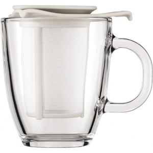 Набор кружка и сито фильтр 0.35 л Bodum Yo-Yo белый (K11239-913)