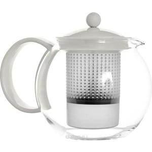 Чайник заварочный с прессом 1 л Bodum Assam белый (1844-913) чайник заварочный bodum assam с фильтром 1 л