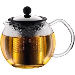 Чайник заварочный с прессом 1 л Bodum Assam хром (1801-16) чайник заварочный bodum assam с фильтром 1 л
