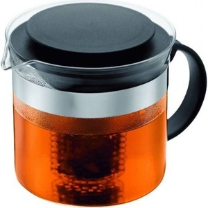 Чайник заварочный с фильтром 1 л Bodum Bistro Nouveau черный (1875-01)