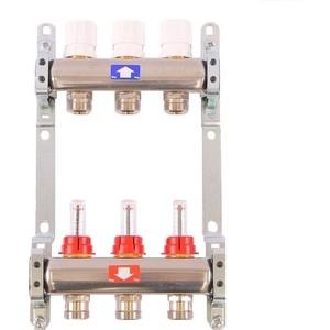 Коллекторная группа ITAP 1х3/4 3 выходов с расходомерами и термостатическими вентилями (917C 1' 3) коллекторная группа royal thermo в сборе с расходомерами 1 вр 3 4 нр 9 выходов нержавеющая сталь rte 52 109