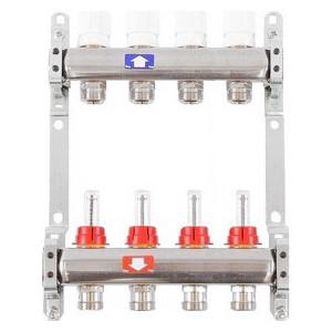 Коллекторная группа ITAP 1х3/4 4 выходов с расходомерами и термостатическими вентилями (917C 1' 4) коллекторная группа itap 1х3 4 4 выходов с расходомерами и термостатическими вентилями 917c 1 4