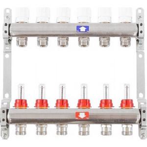 Коллекторная группа ITAP 1х3/4 6 выходов с расходомерами и термостатическими вентилями (917C 1' 6) коллекторная группа itap 1х3 4 4 выходов с расходомерами и термостатическими вентилями 917c 1 4