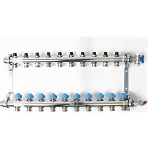 Коллекторная группа REHAU 1х3/4 10 выходов HKV без расходомера с вентилями (218101) коллекторная группа rehau 1х3 4 7 выходов hkv d с расходомером и термостатическими вентилями 208071