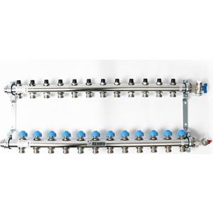 Коллекторная группа REHAU 1х3/4 12 выходов HKV без расходомера с вентилями (218121) коллекторная группа rehau 1х3 4 6 выходов hkv без расходомера с вентилями 218061