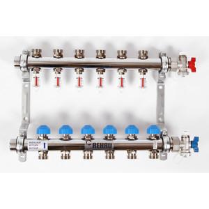 Коллекторная группа REHAU 1х3/4 6 выходов HKV-D с расходомером и термостатическими вентилями (208061) коллекторная группа rehau 1х3 4 7 выходов hkv d с расходомером и термостатическими вентилями 208071
